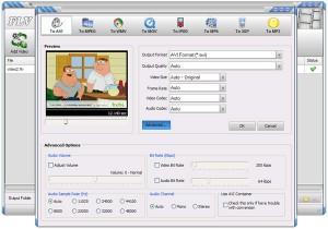 окно для конвертирования в программе FLV Video Converter
