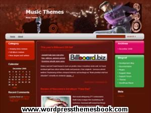 красивый музыкальный шаблон wordpress с внешними ссылками